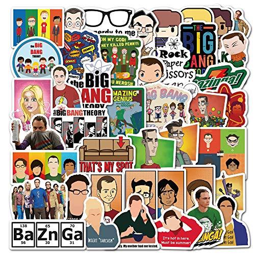 YZFCL Nuevo clásico Americano Drama Life Big Bang Doodle Pegatina Maleta portátil Impermeable 50 Piezas