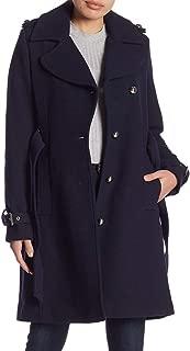 Women's Wool Blend Belted Winter Midi Coat