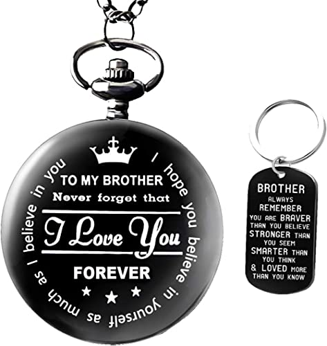 to My Brother Pocket Watch Gifts for Brother Best Gifts for Him Birthday Gifts from Sister, Graduation Gifts for Men,...