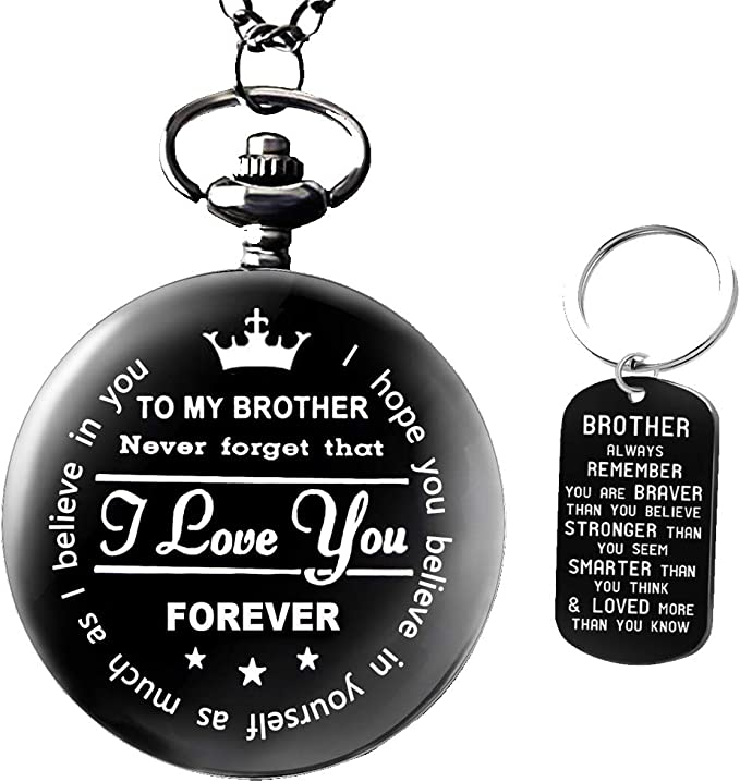 Roll over image to zoom in Brand: Udaney to My Brother Pocket Watch Gifts for Brother Best Gifts for Him Birthday Gifts from Sister