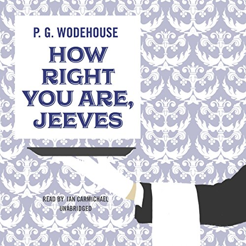 How Right You Are, Jeeves  cover art