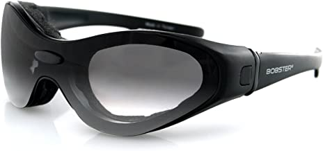 Bobster D-06615 Spektrax Convertible Sunglasses with Prescription Insert, Black Frame/3 Lenses (Smoked, Amber and Clear)