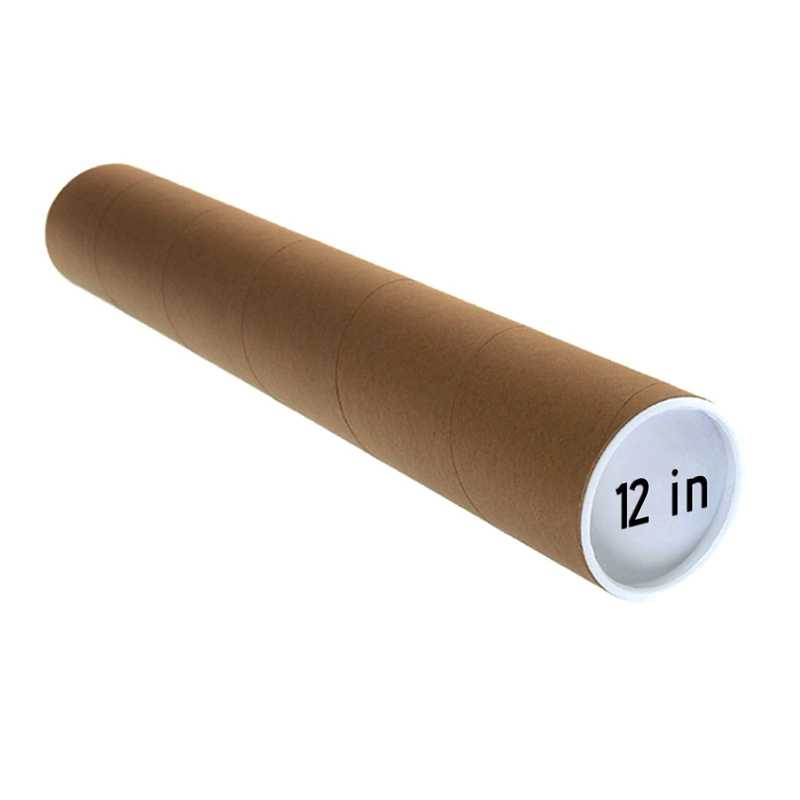White Mailing Tubes with Caps 3 Pack 3-inch x 30 inch usable Length | Tubeequeen