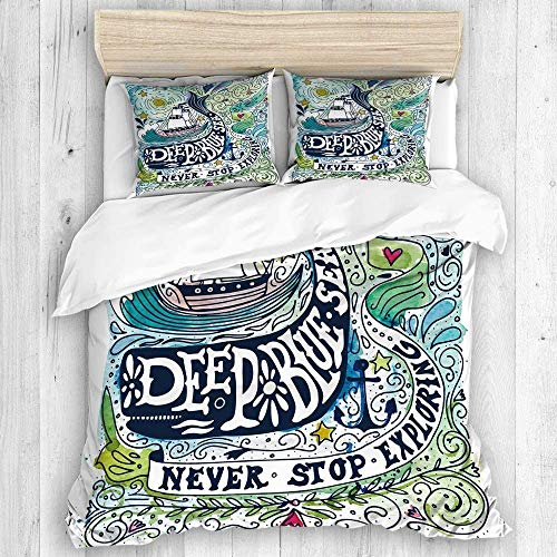 Duvet Cover, Grunge Sketch Dragonfly with Hand Drawn Flowers, Grass, Banner with Frame for Text on Old Textured Paper Background, 2 Pillow Cases, Duvet Bed Cover Set