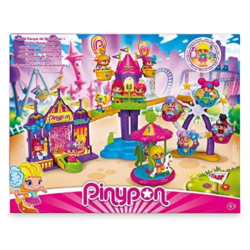 Pinypon - WOW Parque Atracciones, con 5 atracciones: una noria, una lanzadera, globos giratorios, una montaña rusa y un carrusel, incluye 1 figura, para niños y niñas desde 4 años, FAMOSA (700016792)