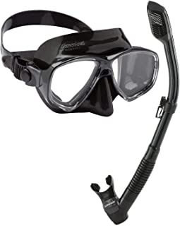 Cressi Marea Ultra Dry Combo Snorkelling Freediving Set - Made in Italy, Noir