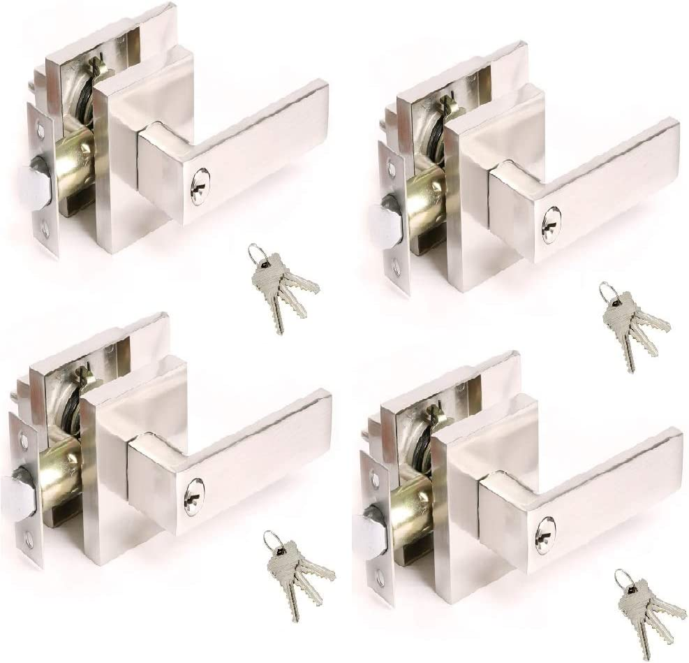 4 Now on sale Pack Satin Nickel Heavy Duty Handle Lever Entrance Selling Door f