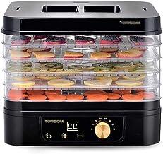 Máquina de conservación de alimentos para el hogar Máquina de fruta secada para alimentos, bandeja transparente ajustable de 5 capas con control de temperatura digital y temporizador para el secado de