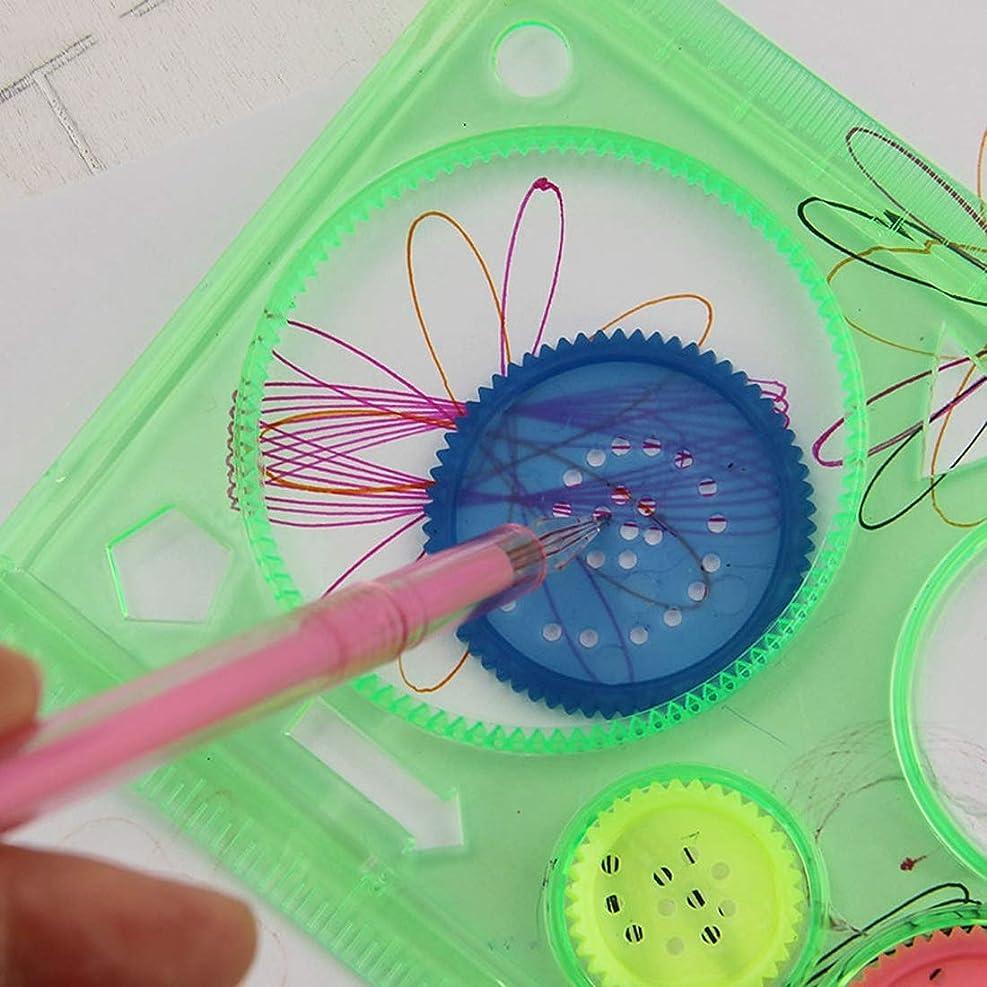 一定トムオードリース超えるHHM 10 PCSクリエイティブミリオンフラワールーラー幾何学習ルール描画ツール固定学生絵画セットクリエイティブ、ランダムカラーデリバリー