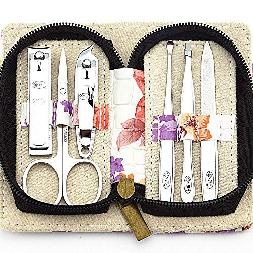 Ciseaux De Beauté Bloc Ensemble De Couteaux De Manucure 6 Pièces Beauté Pince à Pédicure Outils De Soins Voyage à La Maison Hommes Et Femmes