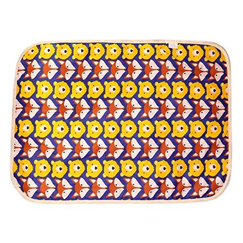 AXROAD MALL Weiche Babys wasserdichte Wickelunterlage Netter Entwurf-wasserdichter Urin Beweis-Material Beweglicher Windel-Tasche Mat Faltbarer Spielraum Wechselstation (Color : Sz#2)