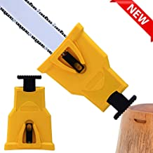 Apatner Chainsaw Sharpener Chainsaw Teeth Sharpener Tools Fast Chain Sharpener for 14/16/18/20-inch Chainsaw and Petrol Saw(Only Fit Chainsaw Bar with 2 Holes)