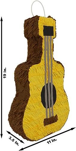 Festive braun Acoustic Classical Guitar Pinata - Mexican Piñata - Handmade in Mexico