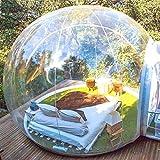 Garten Iglu, 360 Kuppel im Freien Einzelne Tunnel Luxuriöse Familie Camping Hinterhof Transparent...