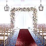 Corredores de pasillo de boda, 2 pies x 15 pies, color burdeos, decoración de boda, pasillo para bodas, corredores de alfombras al aire libre, corredores para pasillo de 4,5 m