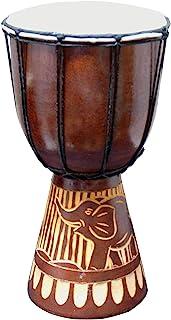 Djembe Drum Carved Bongo ، مبتدیان موسیقی را برای کودکان و بزرگسالان الهام گرفته از آفریقا ، نیز یک ایده هدیه بی نظیر ارائه می دهد. Carver Abstract فیل لاک پشت زرافه ای. (12 اینچ ، فیل)