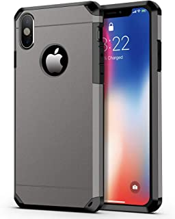 iPhone X Case/iPhone Xs Case, ImpactStrong Heavy Duty Dual Layer Protection Cover Heavy Duty Case for iPhone X/Xs 5.8 inch (2018) - Gun Metal