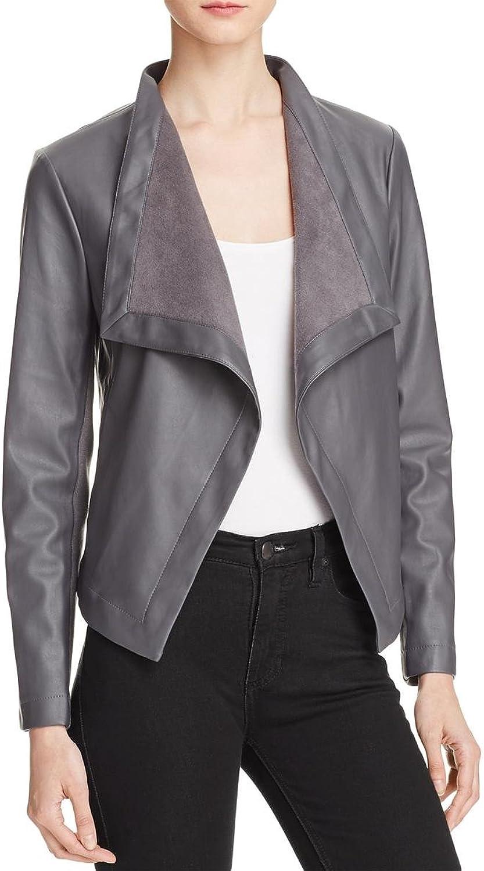 BB Dakota Womens Peppin Fall Faux Leather Jacket
