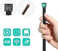 Cámara espía Wireless Cámara Oculta 4K HD - Cámara de Seguridad doméstica con detección de Movimiento Remoto/Detección de Movimiento 2500mAh Cámaras con batería (ACTUALIZADO)