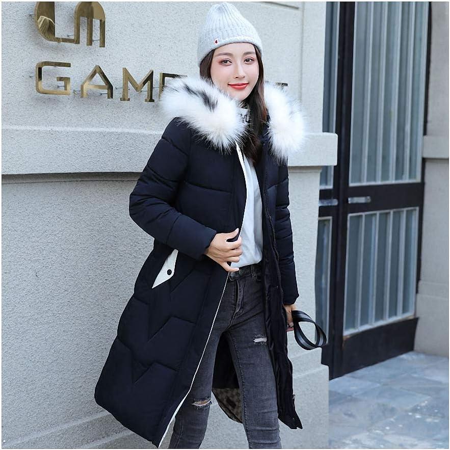 Jacket Women Hooded Fur Collar Parkas Long Coat Women Jacket Women Coats and Jackets Black XXL