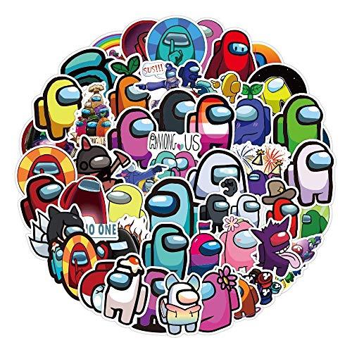 REYOK 100 Pcs Paquete de Pegatinas, Among Us Game Stickers PVC Etiqueta Impermeable Divertido Juego Tema Decoración para Monopatín Nevera Guitarra Laptop Motocicleta Equipaje De Viaje Niños Pe