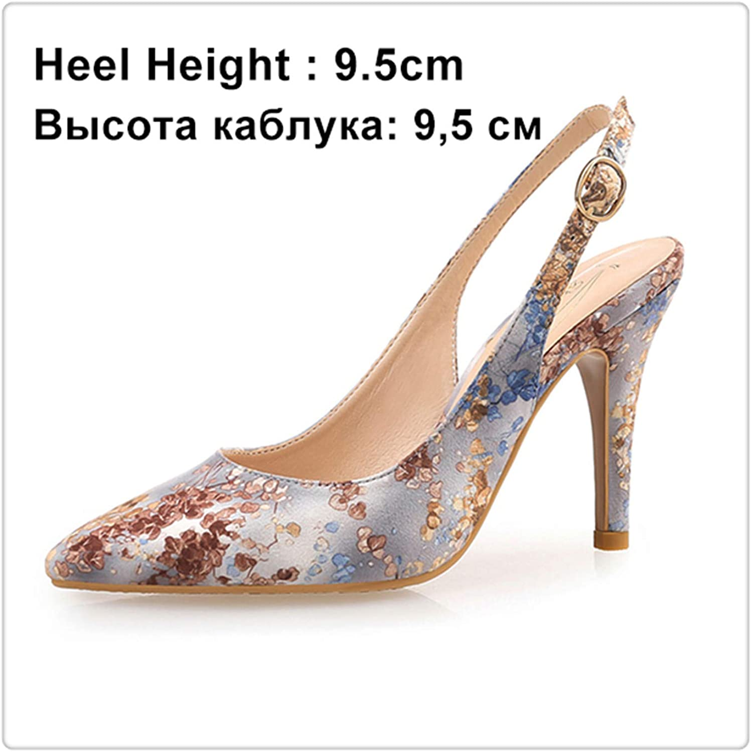DOUSTY& Women Pumps High Heels shoes Female Brand Butterfly-Knot Wedding shoes Thin Heel Embroidered Cloth Party Ladies shoes Plus Size bluee 9.5cm 9