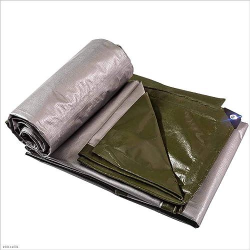 SZ JIAOJIAO Bache De Prougeection Imperméable à l'eau De Couleur Vert Foncé Multi-Usages Matériau De Polyéthylène Housse De Prougeection Camping Bache 180G M2,5M×8M