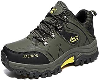 トレッキングシューズ 登山靴 メンズ  ハイキングシューズ 防水 防滑 ウォーキングシューズ アウトドア トラベル ハイカット キャンプ シューズ 暖かい靴 大きいサイズ クッション性/通気性  グリン 26.0CM
