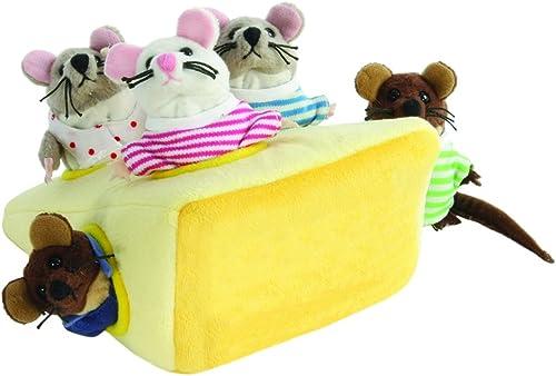 The Puppet Company Masquer La Famille De Souris dans Le Fromage Marionnette à Doigts PC003033