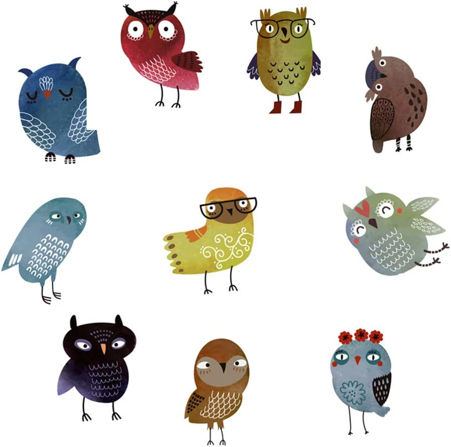 NUOBESTY 10pcs Non-Slip Detroit Mall Bathtub Stickers OFFer Decal Owl Treads Shower