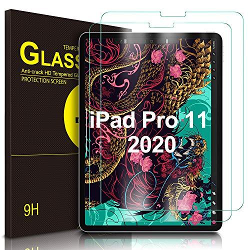 IVSO Screenprotector voor iPad Pro 11 2020, Helder gehard glas Flim Screenprotector voor Apple iPad Pro 11 2020, 2 stuks