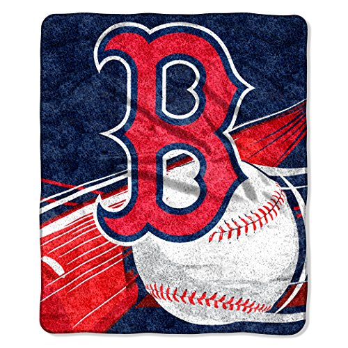 Officially Licensed MLB Boston Red Sox 'Big Stick' Raschel Throw Blanket, 50' x 60', Multi Color