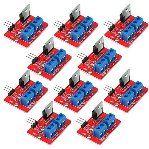 Innovateking-EU 10 Stücke IRF520 MOSFET Treibermodul PWM Ausgang 0-24V 5A für A rduino MCU ARM Raspberry Pi
