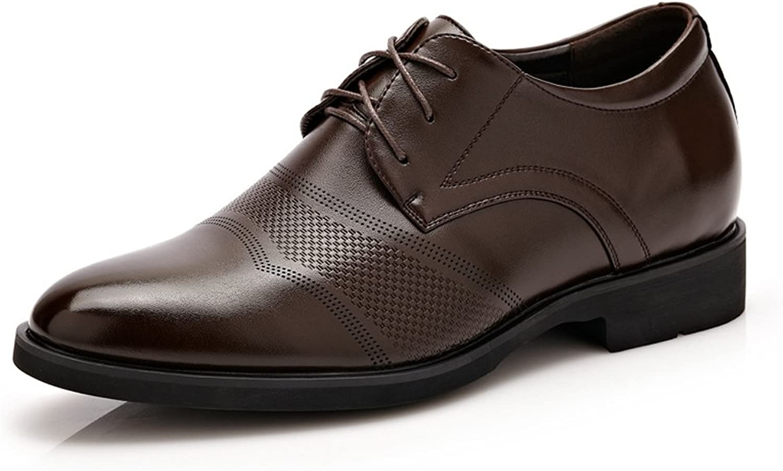 XXY Klassische Formale Herren Leder Schuhe Höhe 6cm atmungsaktiv Business Modern Shortwing Oxfords Driving Schuhe  | Modisch