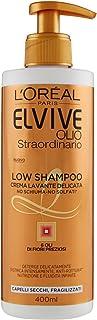 L'Oréal Paris - Champú Elvive Low Shampoo sin espuma ni sulfatos,400ml Olio Straordinario