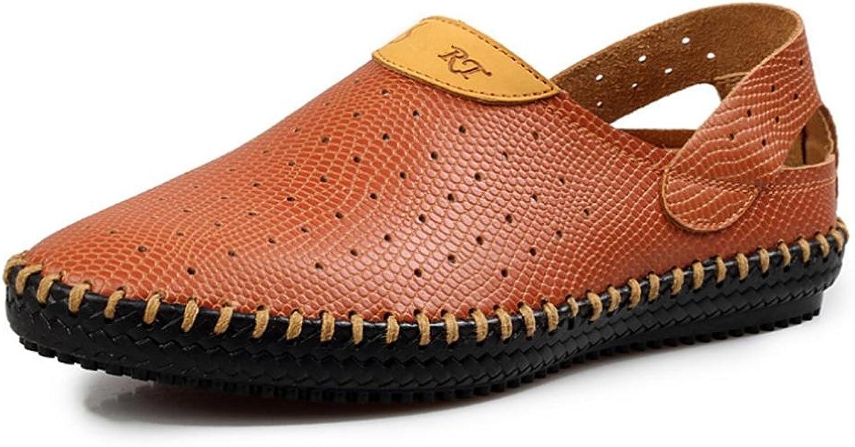 2017 Summer Breathable Hollow shoes Men's Leather Sandals shoes Tide