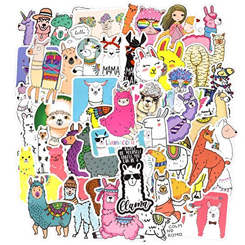 FENGLING Etiqueta engomada Linda de Kawaii Dibujos Animados Camello Oveja Pegatinas de Animales para niños recompensa Pegatinas Scrapbooking Bicicleta Coche calcomanía 50 Uds
