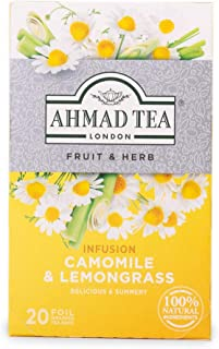 Ahmad Tea Camomile & Lemongrass Fruit & Herbal Infusion, 20 Enveloped Teabags