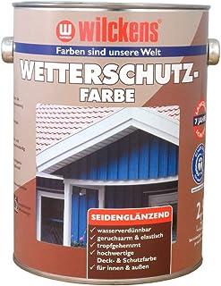 Wetterschutzfarbe 2,5 l Taubenblau Farbe ca. 25 m² Holzfarbe Innen Außen Wilckens Deckfarbe