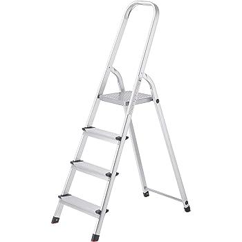 Songmics GLT140 - Escalera de 4 peldaños (Aluminio): Amazon.es: Bricolaje y herramientas