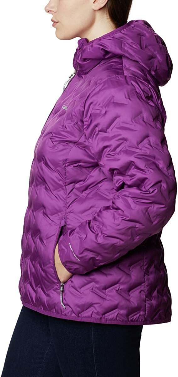 Columbia Womens Delta Ridge Down Hooded Jacket Down Coat