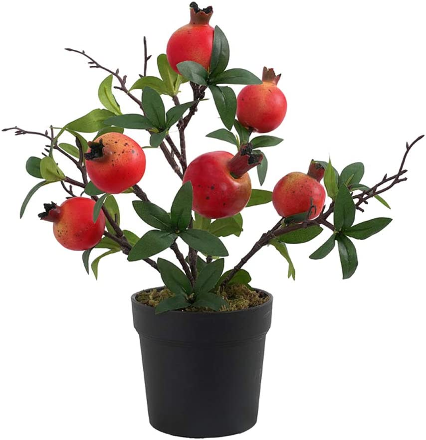 LOVIVER Artificial Ranking TOP18 Fruit Pomegranat or SEAL limited product Bonsai Wed Lemon for Tree