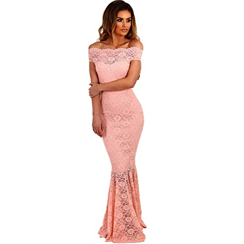 Women S Pink Wedding Dress Amazon Co Uk