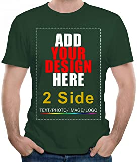 2 Side Custom T-Shirt Tee, Design Your Custom Shirt, Add Your Image Photo Text