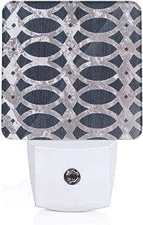 Night Light Plug in LED Morrocan Modern Geometric Wavy 2