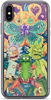 TEEDUYEN Compatible with iPhone 6/6s Case Pickle Rick Scientist Science Humor Pure Clear Phone Cases Cover