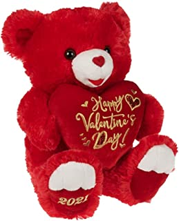 Way to Celebrate Valentine's Day 2021, Happy Valentine's Day, Red Teddy Bear 19""