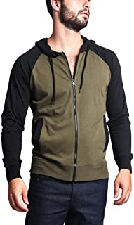 Victorious Men's Raglan Light Weight Zip Down Hoodie
