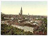 Photo Freiburg general view Baden A4 10x8 Poster Print