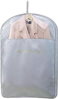 Garment Shoulder Covers Bag, for Travel Storage Closet Clothes Suit Jacket Shirts Organizer with Floe Blue